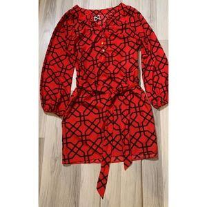 Mud Pie Wrap Long Sleeve Dress Size Small